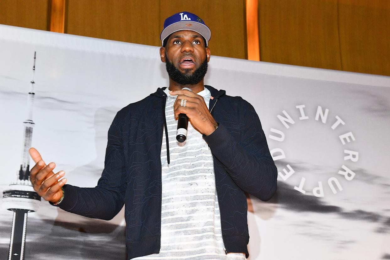 TORONTO, ONTARIO - AUGUST 02: NBA Player Lebron James attends the Uninterrupted Canada Launch held at Louis Louis at The St. Regis Toronto on August 02, 2019 in Toronto, Canada. (Photo by George Pimentel/Getty Images)