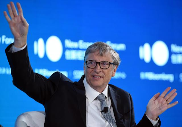 Bill Gates predicted that it would be 'microbes, not missiles' that caused significant harm to humans in a TED Talk five years ago. (Picture: Hou Yu/China News Service/VCG via Getty Images)