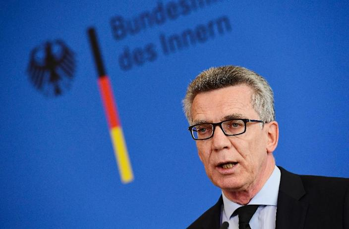German Interior Minister Thomas de Maiziere addresses a press conference in Berlin, on July 23, 2016 (AFP Photo/Tobias Schwarz)