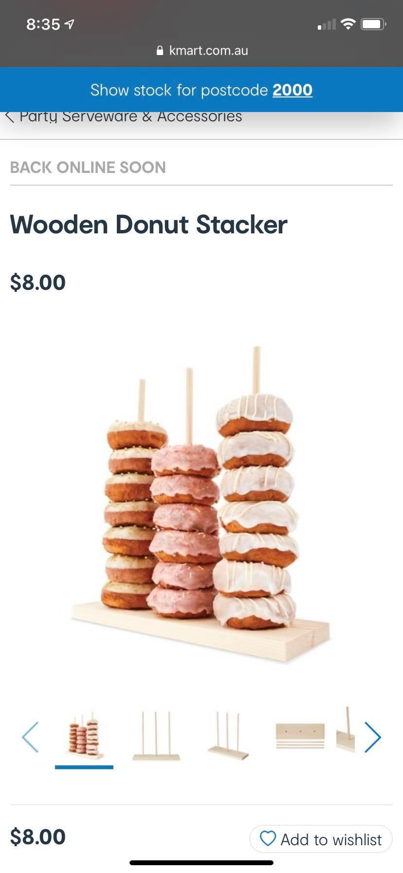 Others have suggested that the donut stacker might be useful for drying reusable zip-loc bags or storing hair scrunchies. Photo: Kmart.