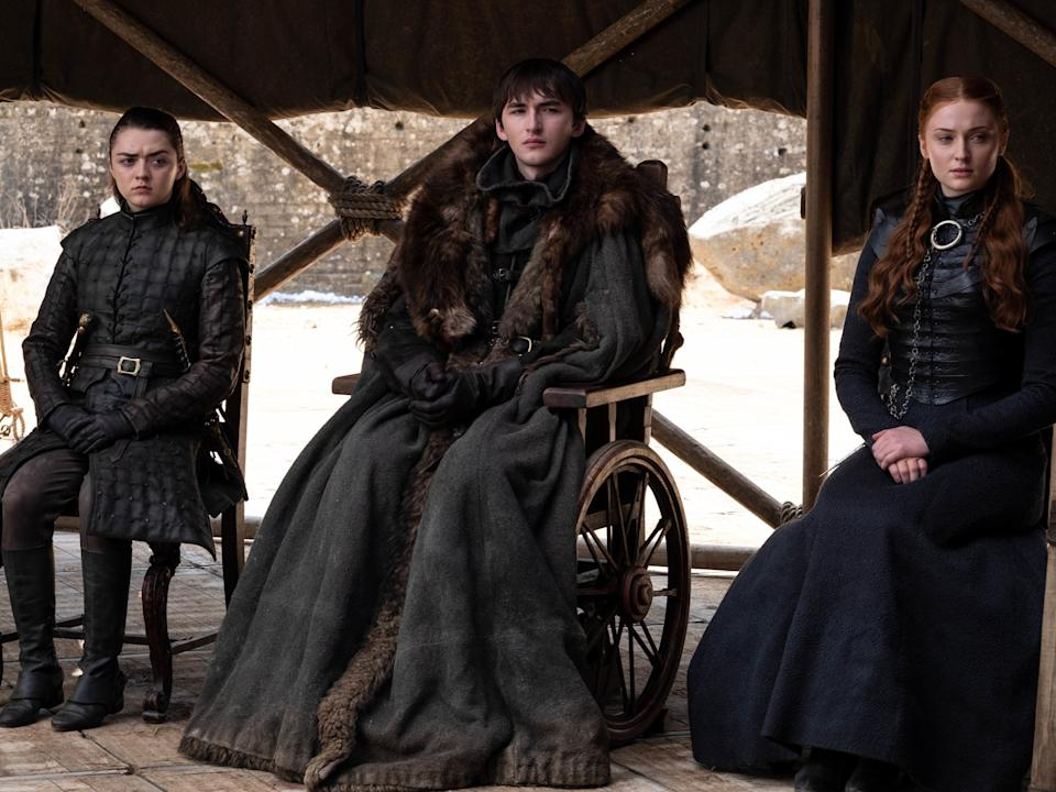 The Stark siblings assemble during the final episode of Game of ThronesHBO