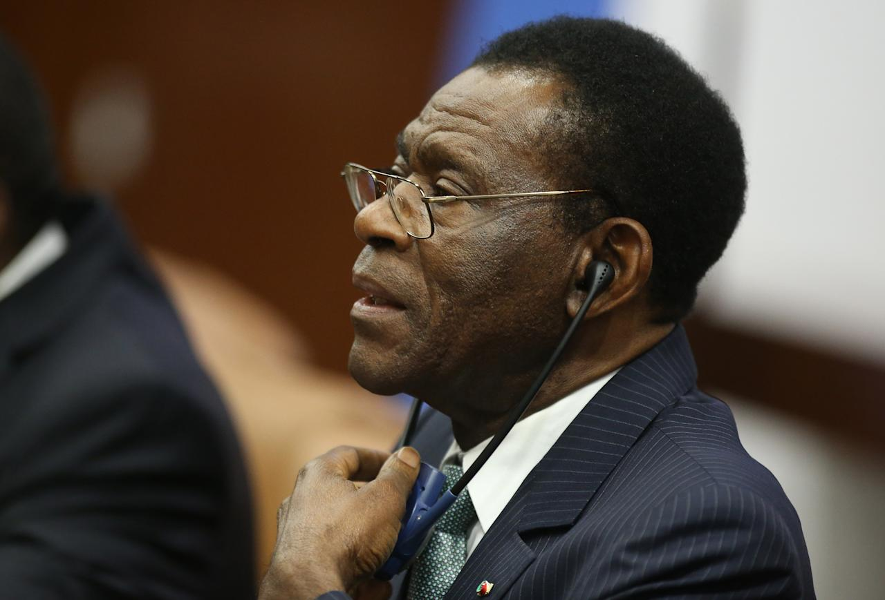 <p>Age: 75<br /> Came to power: 1979<br /> The President of Equatorial Guinea has been in power since he ousted his uncle in a military coup. He is accused of corruption and abuse of power and opposition is barely tolerated (Picture: REUTERS/Tiksa Negeri) </p>