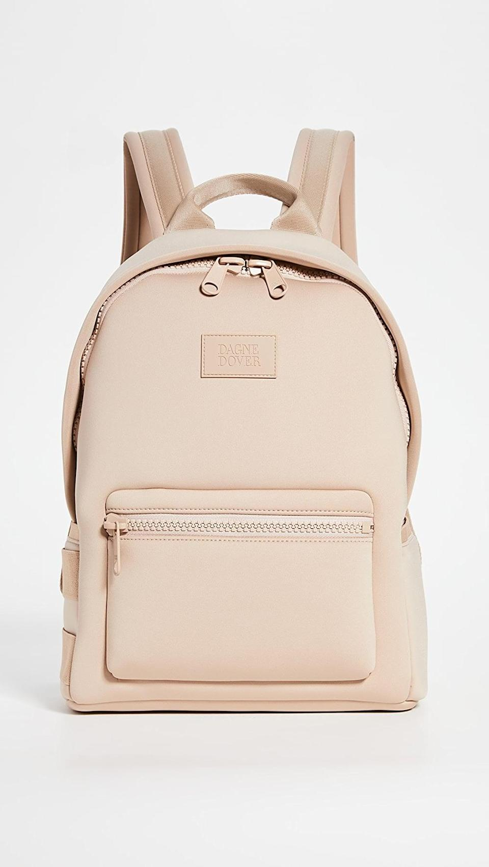 <p>This <span>Dagne Dover Dakota Backpack</span> ($175) will be your companion for hikes, morning walks or bike rides.</p>
