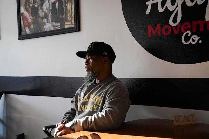 """""""Most of us were out there ingangs, doing street stuff,"""" says MarquisBowie,a co-founder of local nonprofit called Agape Movement Co. Now, he says, """"we're trying to be a resource center for the community, putthe unity in community and just buildup our neighborhood."""""""