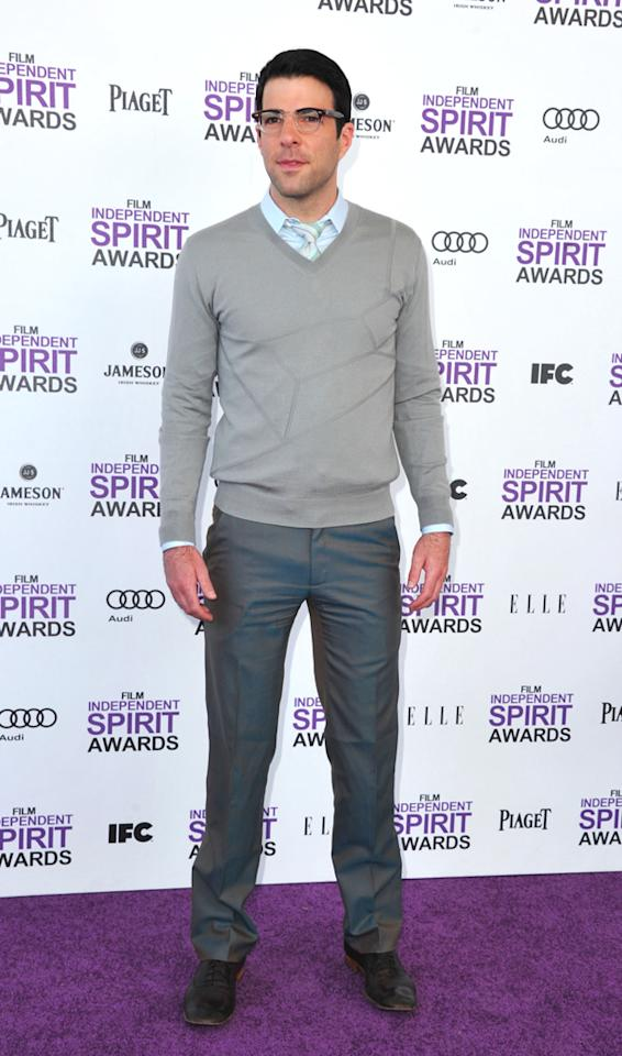 """""""Margin Call"""" producer/star Zachary Quinto was easily one of the best-dressed men in attendance. Head-to-toe perfection!"""