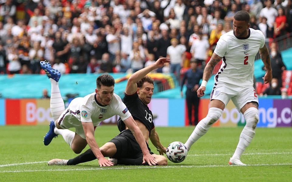 German pundits claimed Declan Rice should have been sent off for his foul on Leon Goretzka in the first half - REUTERS