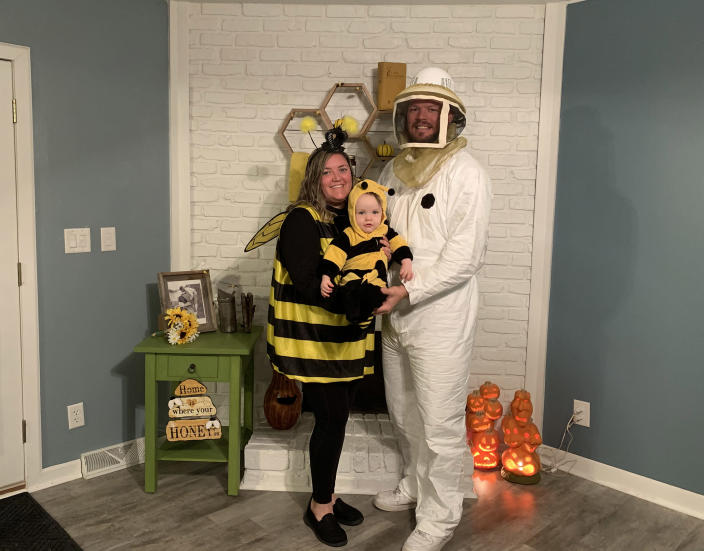 The Kirby family dressed as busy bees on TODAY (Courtesy of the Kirby family)