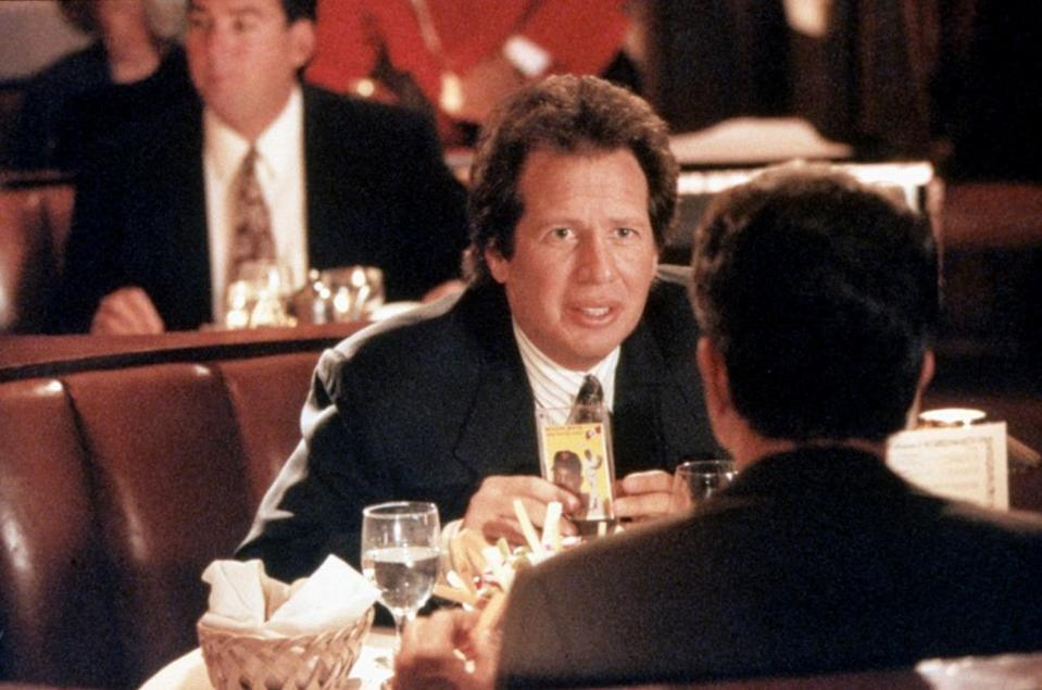 """<p>A comic bright spot in this remake of <i>An Affair to Remember</i>, starring pal Warren Beatty and Annette Bening, Shandling plays the wise-cracking lawyer to Beatty's smooth ex-football star. <a href=""""http://www.ew.com/article/1994/10/28/garry-shandlings-acting-tips"""" rel=""""nofollow noopener"""" target=""""_blank"""" data-ylk=""""slk:When EW asked"""" class=""""link rapid-noclick-resp"""">When <i>EW</i> asked</a> Shandling for tips on playing a movie best friend, he said, """"It helps if your real best friend resembles your best friend in the movie. I had a best friend who resembled Warren Beatty. At least he resembled him years ago. Last time I saw him, he looked more like Annette Bening.""""<br></p><p><i>(Credit: Everett Collection)</i></p>"""