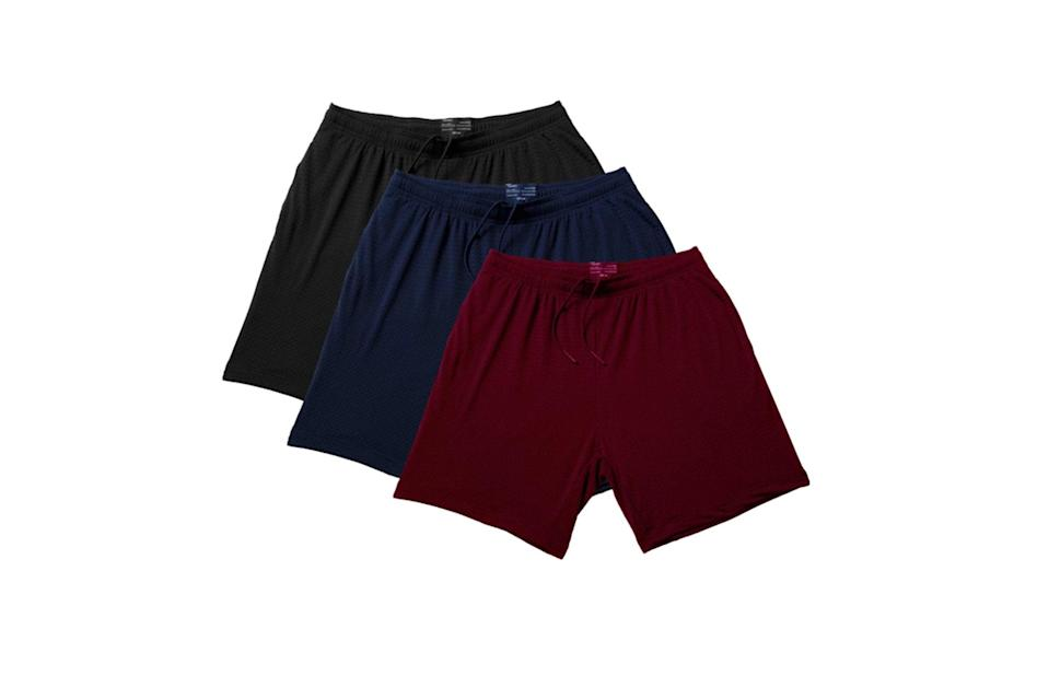 """$115, Nice Laundry. <a href=""""https://www.nicelaundry.com/products/pocket-lounge-shorts-variety-3-pack"""" rel=""""nofollow noopener"""" target=""""_blank"""" data-ylk=""""slk:Get it now!"""" class=""""link rapid-noclick-resp"""">Get it now!</a>"""