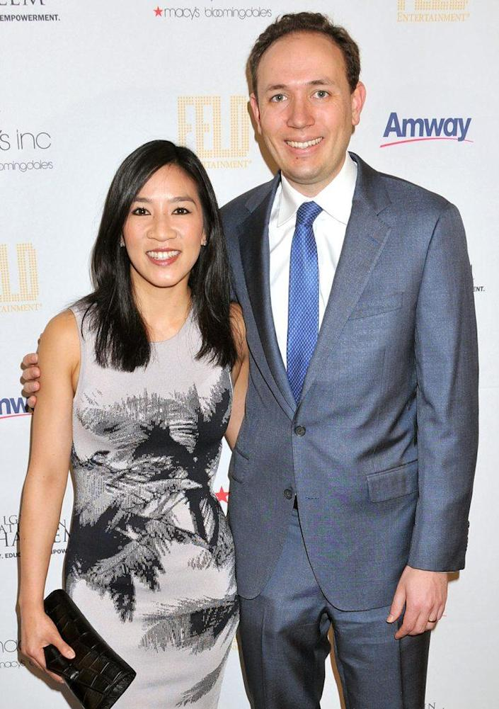 Michelle Kwan and Clay Pell in happier times. (Photo: Demis Maryannakis/Splash News)