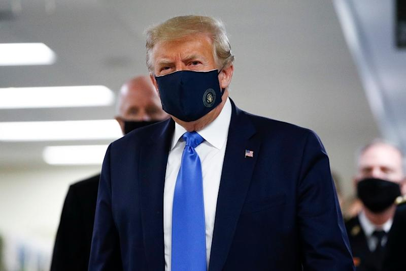 Donald Trump Finally Wears a Mask in Public for the First Time During Coronavirus Pandemic