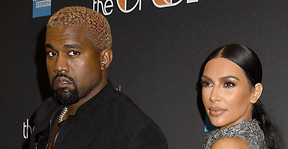 Kim Kardashian and Kanye West attending the Cher Show in December 2018. (PA Images)