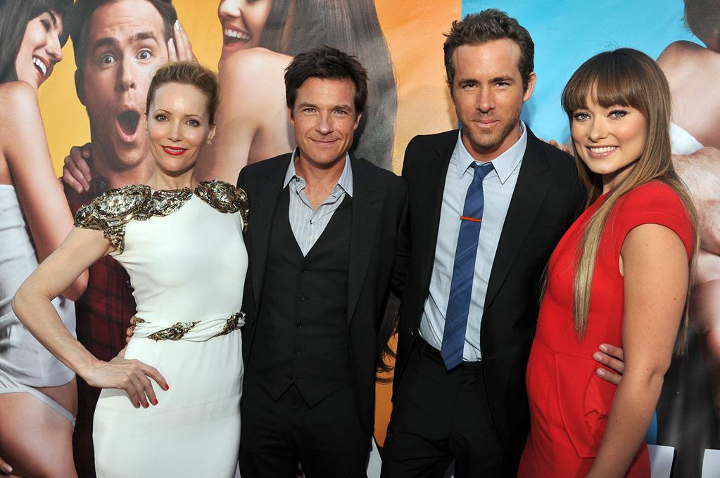 """<a href=""""http://movies.yahoo.com/movie/contributor/1800018715"""">Leslie Mann</a>, <a href=""""http://movies.yahoo.com/movie/contributor/1800019148"""">Jason Bateman</a>, <a href=""""http://movies.yahoo.com/movie/contributor/1800025139"""">Ryan Reynolds</a> and <a href=""""http://movies.yahoo.com/movie/contributor/1808489542"""">Olivia Wilde</a> at the Los Angeles premiere of <a href=""""http://movies.yahoo.com/movie/1810155680/info"""">The Change-Up</a> on August 1, 2011."""