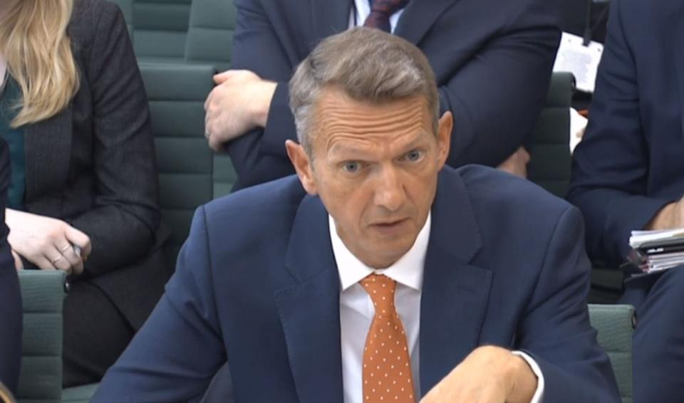 Chief Economist and Executive Director, Monetary Analysis & Statistics Andy Haldane giving evidence to the Treasury Select Committee at the House of Commons, London, on the subject of Bank of England Inflation Reports. (Photo by House of Commons/PA Images via Getty Images)