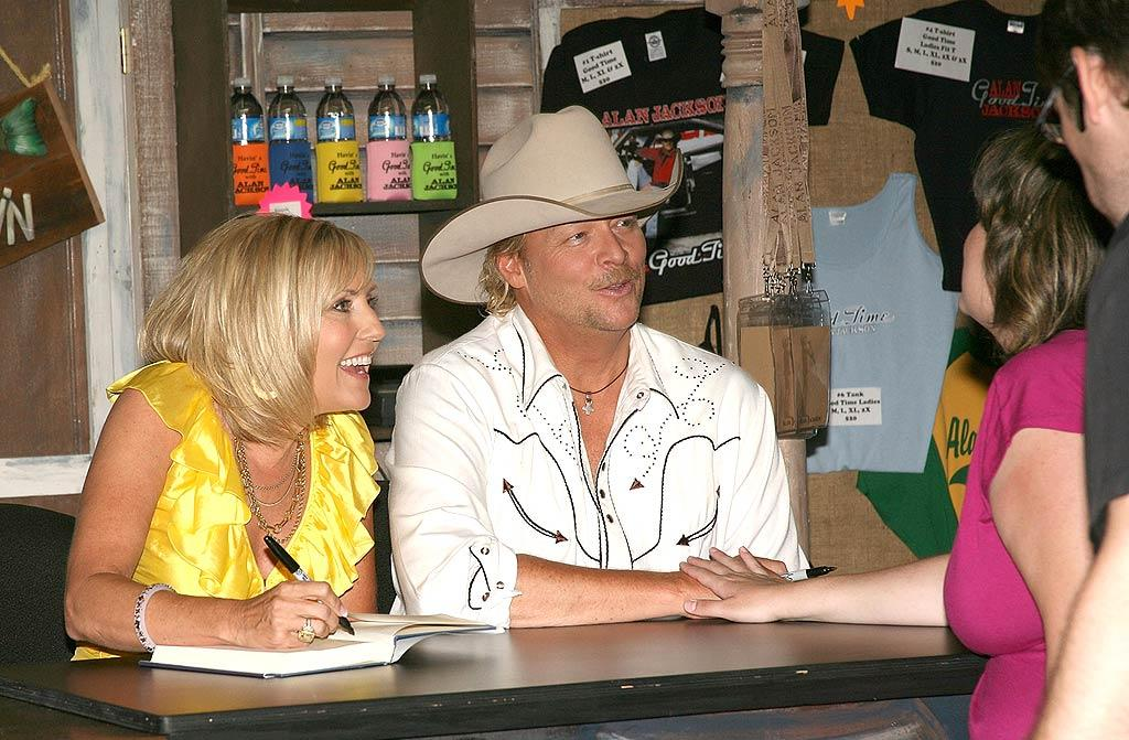"Denise and Alan Jackson take time out of their busy schedules to meet with the dedicated fans. Tony R. Phipps/<a href=""http://www.wireimage.com"" target=""new"">WireImage.com</a> - June 6, 2008"