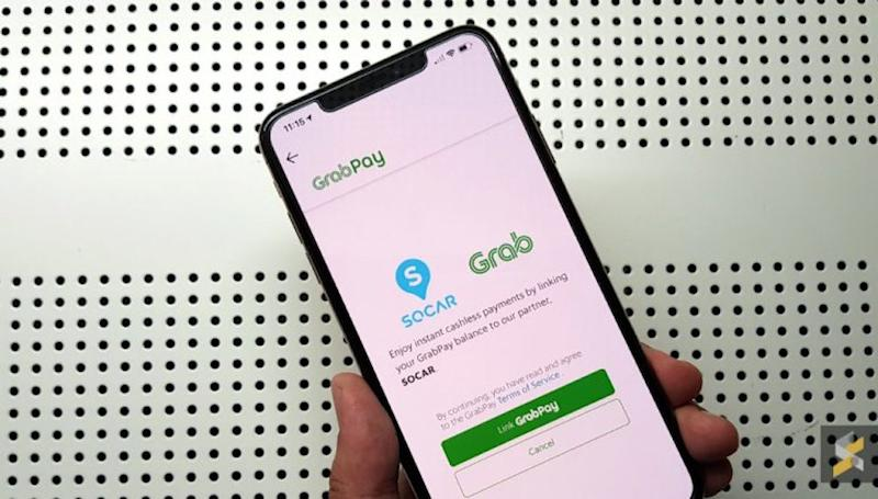 Car-sharing provider SOCAR is now supporting GrabPay as a new payment option. — SoyaCincau pic