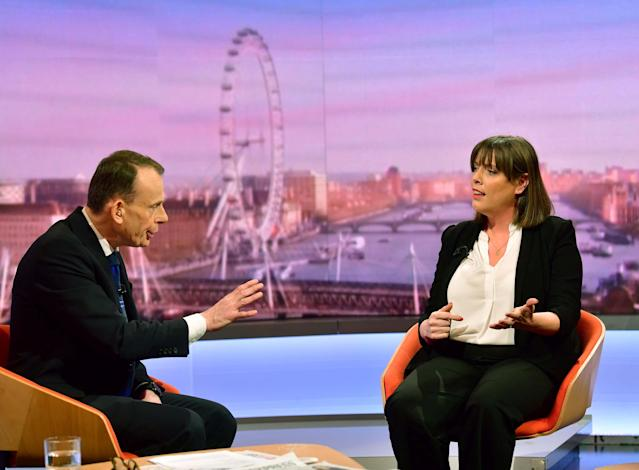 Jess Phillips appears on The Andrew Marr Show on Sunday. (Reuters)