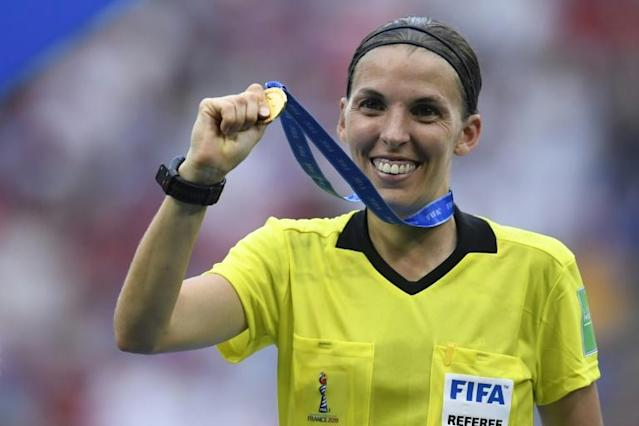 Stephanie Frappart will referee the game, fresh from taking charge of the women's World Cup final last month (AFP Photo/CHRISTOPHE SIMON)