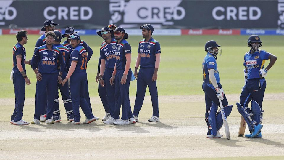 """<div class=""""paragraphs""""><p>Sri Lanka were restricted to 262/9 in the first ODI by India</p></div>"""