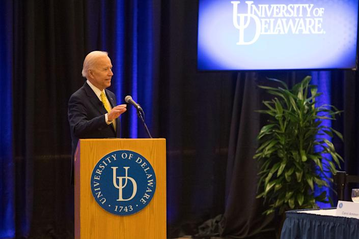 The University of Delaware named the School of Public Policy the Joseph R. Biden Jr. School of Public Policy during a semiannual Board of Trustees meeting Tuesday at the Trabant Student Center.