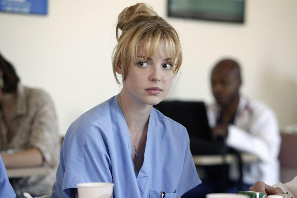 <p>Heigl was a member of the OG <em>Grey's Anatomy</em> class of interns, playing Izzie Stevens, who paid her way through medical school by modeling. </p>