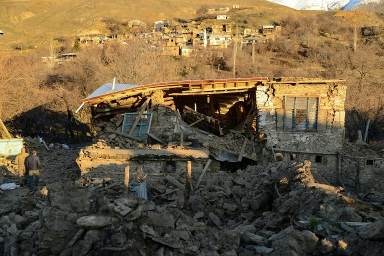 There have been nearly 400 aftershocks following Friday's quake including 12 that were above four in magnitude (AFP Photo/Ilyas AKENGIN)