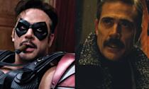 <p>Jeffrey Dean Morgan played the Comedian in <em>Watchmen</em> but then popped up briefly in <em>Batman V Superman: Dawn of Justice</em> as Thomas Wayne. With<em> The Flash</em> movie set to be based on<em> The Flashpoint Paradox</em> comic run we may well see Morgan's character take on the role of Batman too.<br>He also plays Negan in The Walking Dead TV series. </p>