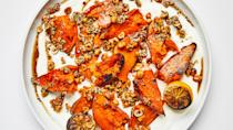"<a href=""https://www.bonappetit.com/recipe/sweet-potatoes-with-charred-lemons-and-crunchies?mbid=synd_yahoo_rss"" rel=""nofollow noopener"" target=""_blank"" data-ylk=""slk:See recipe."" class=""link rapid-noclick-resp"">See recipe.</a>"