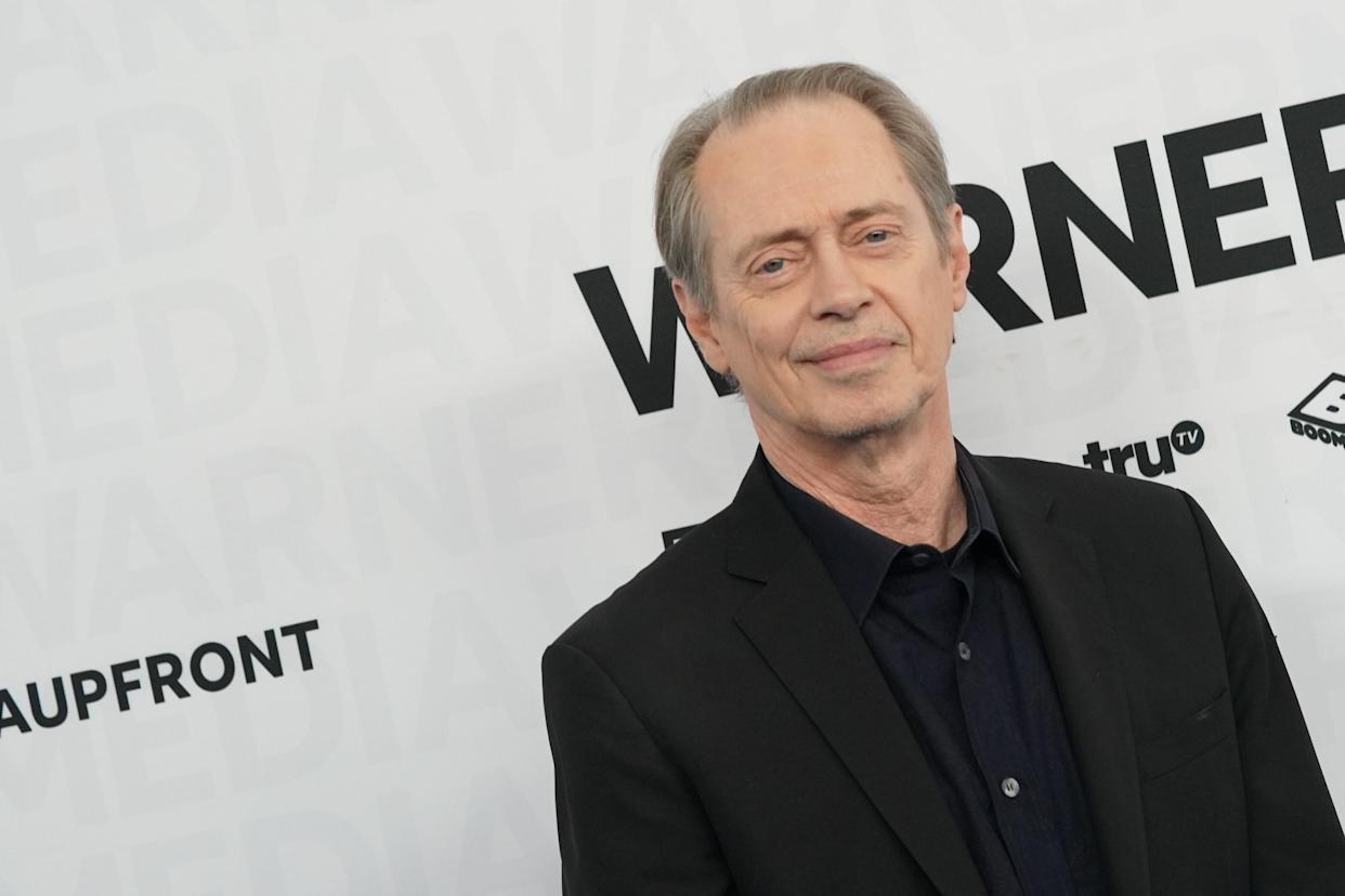 Steve Buscemi arrives to the 2019 WarnerMedia Upfront, held at Madison Square Garden in New York City, New York on Wednesday, May 15, 2019. (Photo by Jennifer Graylock/Sipa USA)