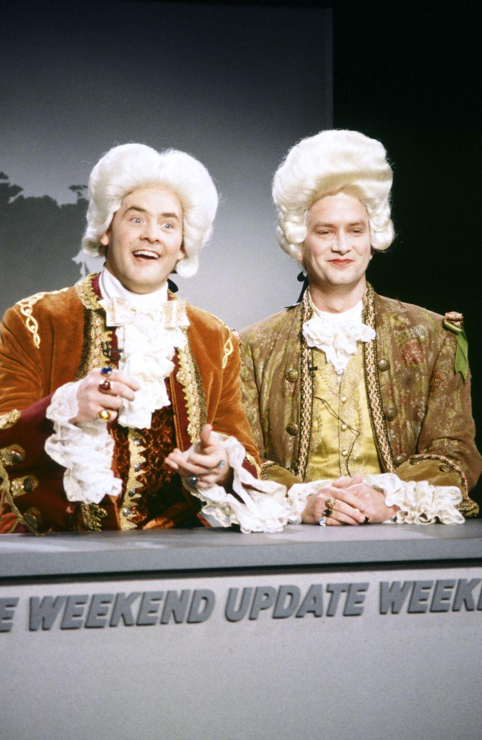 <p>During SNL's 1995–96 season, David Koechner hatched a few memorable recurring characters, including the excessively fawning British fop Fagan, but it didn't prove to be enough. He wasn't asked back the next season.</p>