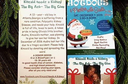 Fundraiser invitation to support Kincaid Needs a Kidney | Go Fund Me