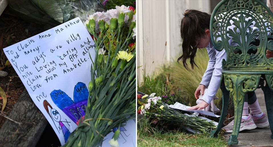 Neighbours leave tributes left for the Perinovic family in Melbourne