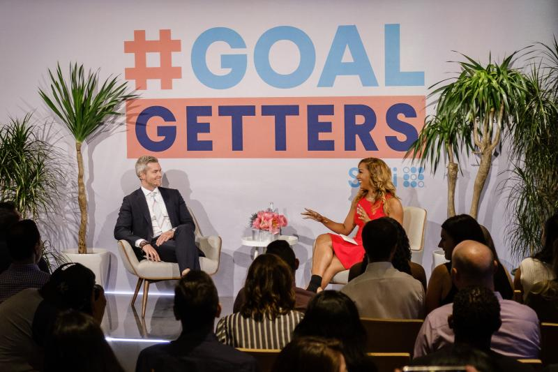 "Bravo's Ryan Serhant and NBA on TNT's Rosalyn Gold-Onwude SoFi For ""Goal Getters"" Live in New York City"