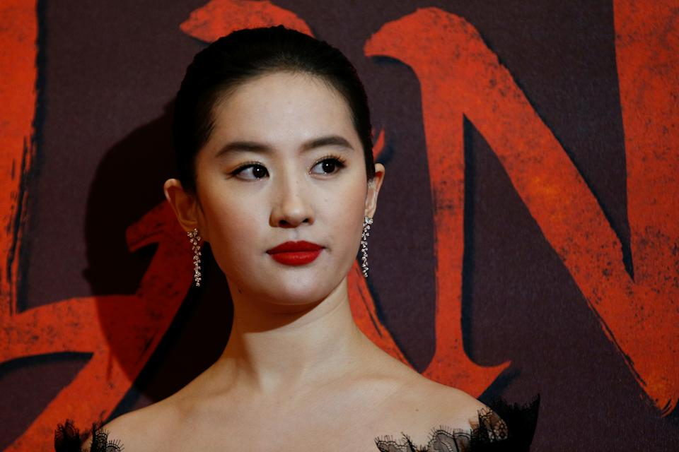 """Cast member Yifei Liu attends the European premiere for the film """"Mulan"""" in London, Britain March 12, 2020. REUTERS/Henry Nicholls"""