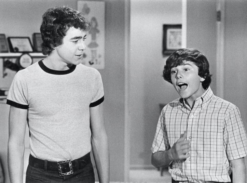 Barry Williams and Christopher Knight in The Brady Bunch
