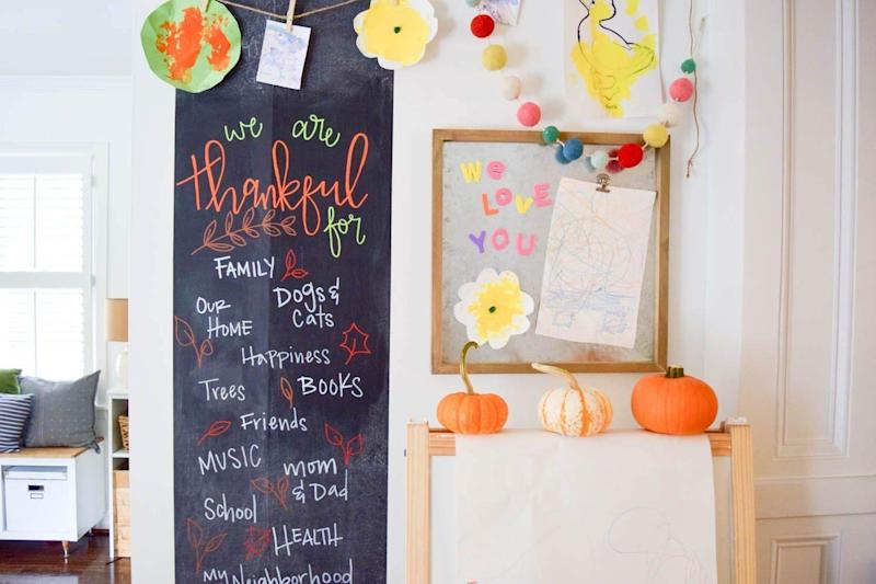 Kassa Chalkboard Wall is a great way to keep track of to-do lists or inspire creativity in your little ones