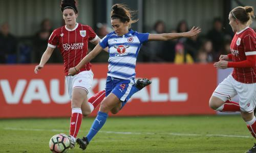 Reading's Fara Williams scores goal from halfway line to beat former club Arsenal