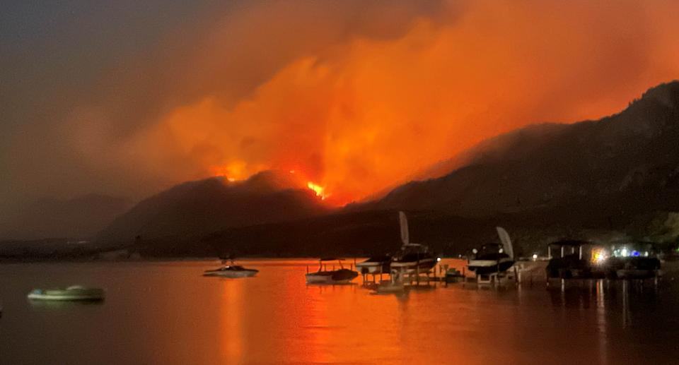 Smoke billows from a wildfire near Osoyoos, British Columbia, Canada July 19, 2021, in this picture from social media. Source: Reuters