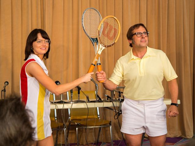 Emma Stone and Steve Carell in 'Battle of the Sexes' (Fox Searchlight)