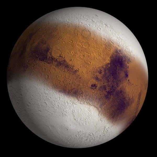 Mars during an ice age.
