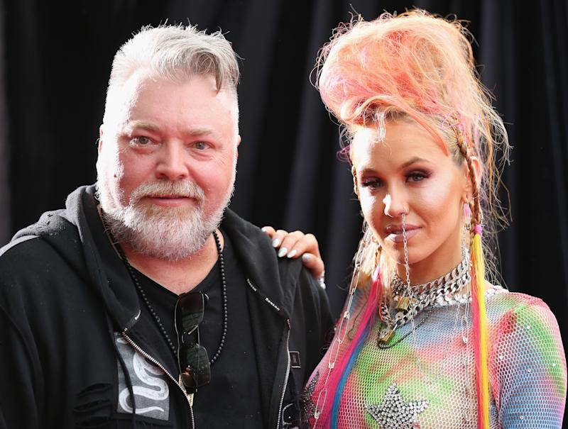 Kyle Sandilands and Imogen Anthony at the ARIAS 2016