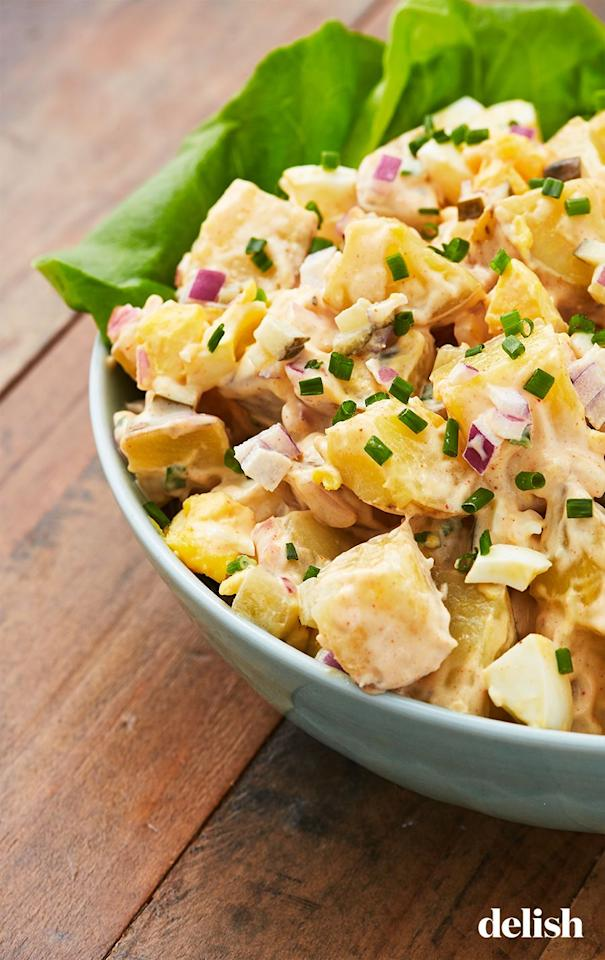 "<p>Everyone will be fighting for the last scoop!</p><p>Get the recipe from <a href=""https://www.delish.com/cooking/recipe-ideas/recipes/a53128/classic-potato-salad-recipe/"" target=""_blank"">Delish</a>.</p>"