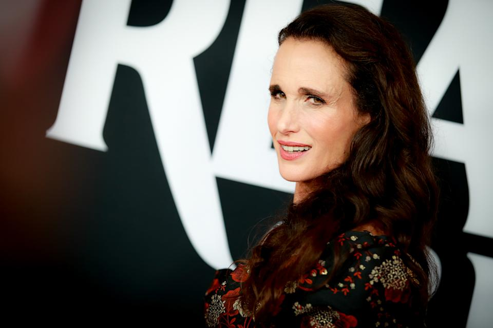 Actress, Andie MacDowell, stuns on the red carpet. [Photo: Getty]