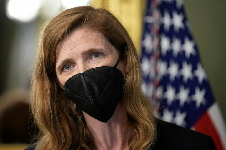 Samantha Power, administrator of United States Agency for International Development, seen at her ceremonial swearing-in in May 2021, will travel to Ethiopia to press on humanitarian access