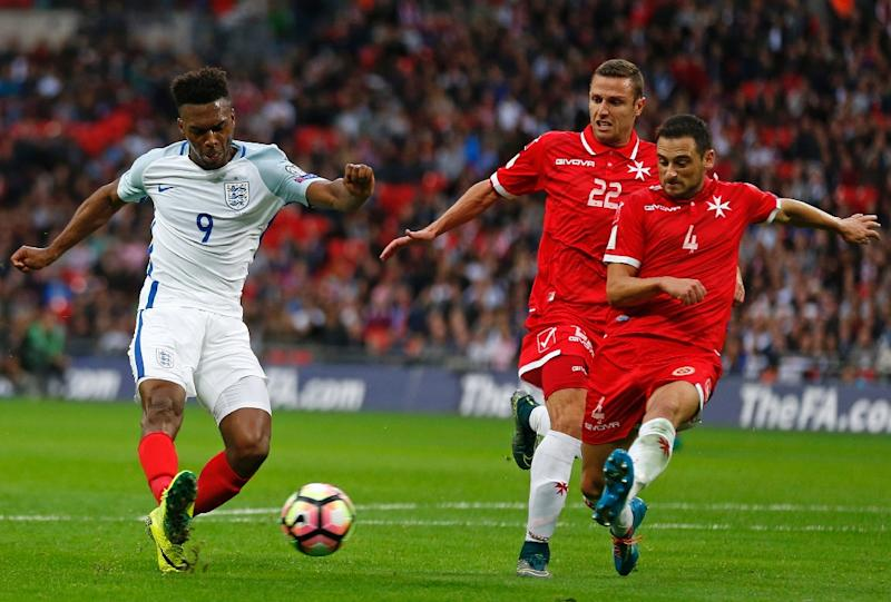 Daniel Sturridge (left) scored England's opening goal against Malta