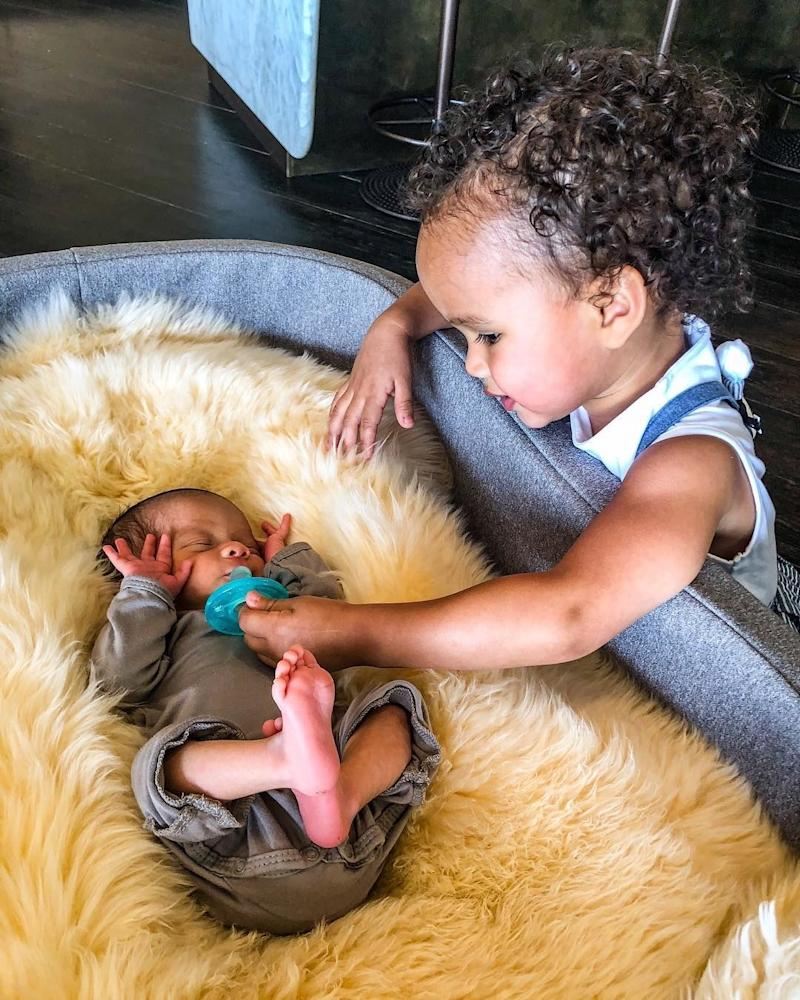 Just when you thought Chrissy Teigen, John Legend, and their daughter Luna couldn't get any cuter, in late May, the family managed to take up a notch by adding the newborn Miles Theodore Stephens into the mix, who so far seems to be getting along with his older sis just fine.