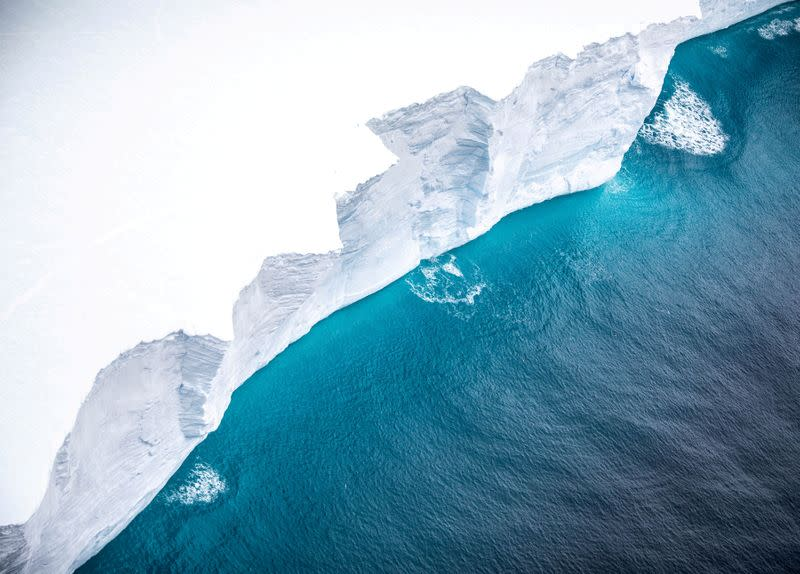 FILE PHOTO: View of the A-68A iceberg from a Royal Air Force reconnaissance plane near South George island