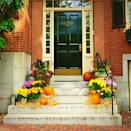 """<p>Creepy Halloween decor isn't for everyone. If you fall into this category, settle for a mix of colorful florals and pumpkins to celebrate the holiday in style. <br><br><a class=""""link rapid-noclick-resp"""" href=""""https://go.redirectingat.com?id=74968X1596630&url=https%3A%2F%2Fwww.homedepot.com%2Fp%2FKNOCK-OUT-2-Gal-Sunny-Rose-Plant-with-Yellow-Flowers-13216%2F313683813&sref=https%3A%2F%2Fwww.goodhousekeeping.com%2Fholidays%2Fhalloween-ideas%2Fg32948621%2Fhalloween-door-decorations%2F"""" rel=""""nofollow noopener"""" target=""""_blank"""" data-ylk=""""slk:SHOP YELLOW FLOWERS"""">SHOP YELLOW FLOWERS</a></p>"""