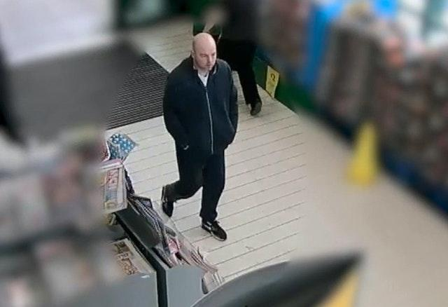 Joseph McCann on CCTV in Greater Manchester