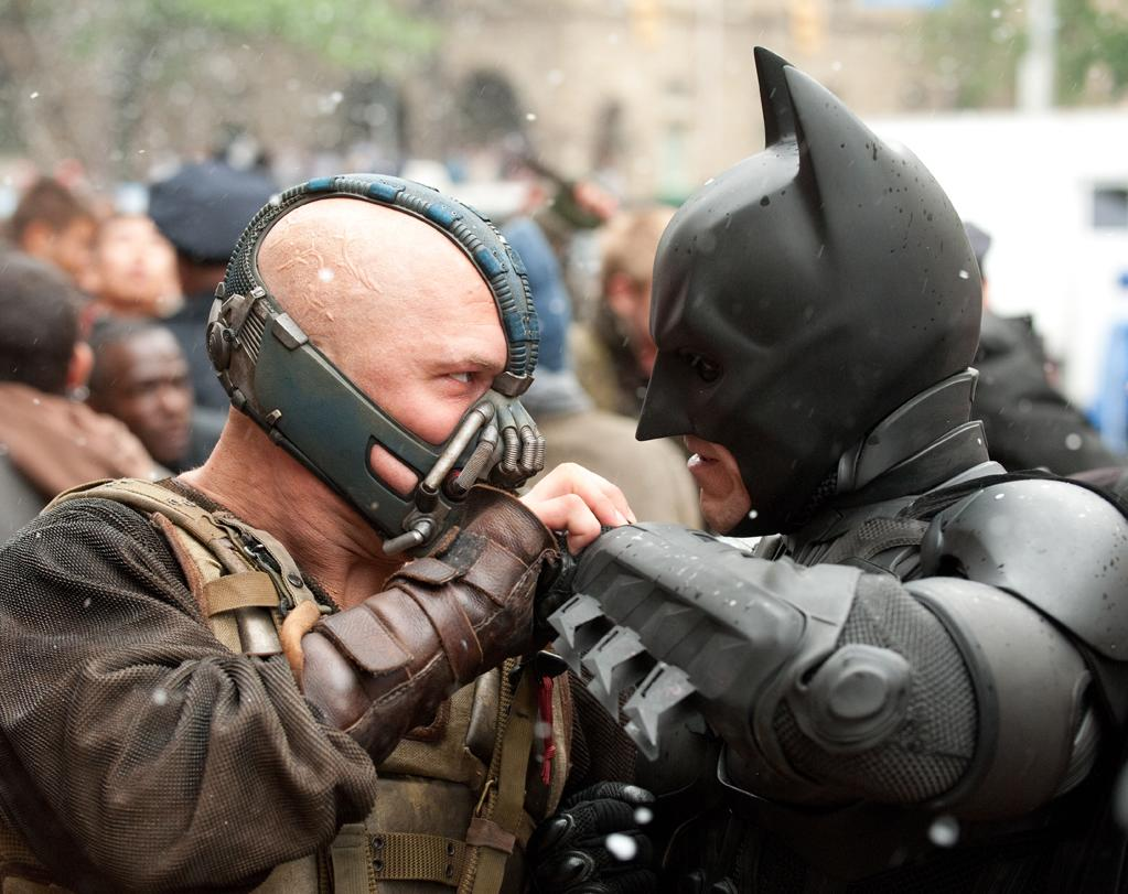 The Dark Knight Rises: Having taken the fall for Two-Face's crimes against Gotham in Christopher Nolan's last installment, Batman (Christian Bale) has to combat yet another villain Bane (Tom Hardy), declaw Catwoman (Anne Hathaway), and resuscitate his tarnished reputation.